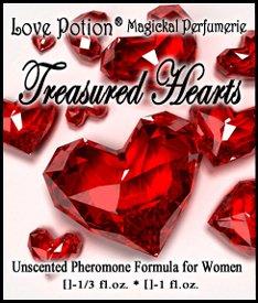 Love Potion Treasured Hearts UNscented Pheromone Blend for Women – 1 3 Fl.oz. 10ml