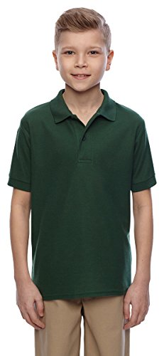 JZ EASYCARE YOUTH SPORT SHIRT, FOREST GREEN, XL - Sleeve Youth Pique Polo