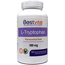 L-Tryptophan 500mg (120 Vegetarian Capsules) - No Stearates
