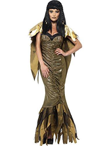 Cleopatra Halloween Costume Uk (Smiffys Women's Dark Cleopatra Costume)
