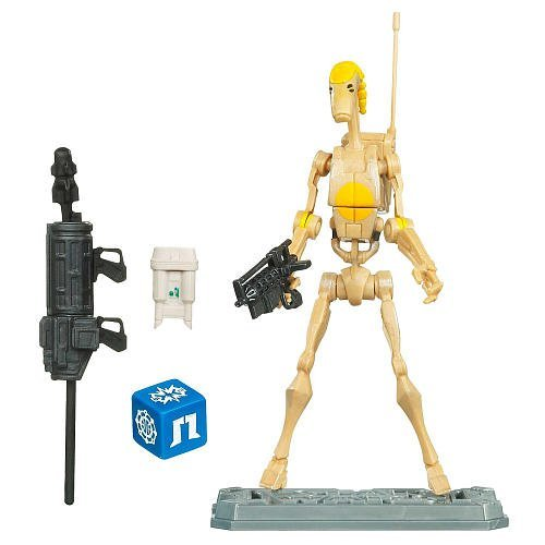 Star Wars 2010 Clone Wars Animated Action Figure CW No. 22 Battle Droid Commander