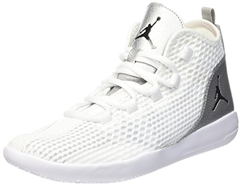 Jordan Reveal Big Kids Style, White/Black/Metallic Silver/Infrared 23, 5.5 by Jordan