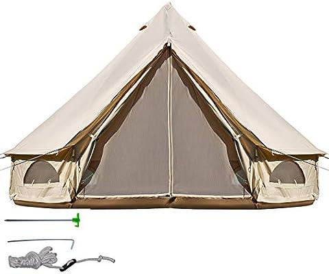 BuoQua Tienda de Campaña 8-10 Personas/ 5M Yurta Mongolia Tiendas Camping Tienda Yurta Mongola Tienda de Campaña Familiar Montaje Rápido Tienda de Campaña al Aire Libre: Amazon.es: Deportes y aire libre
