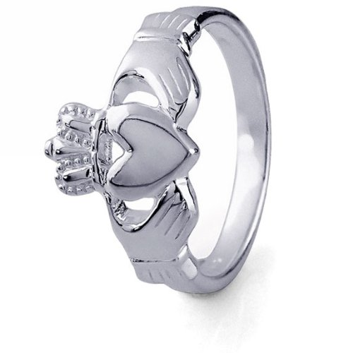 Sterling Silver Ladies Claddagh Ring - Ladies Sterling Silver Claddagh Ring LS-RS699. Made in Ireland. (7)