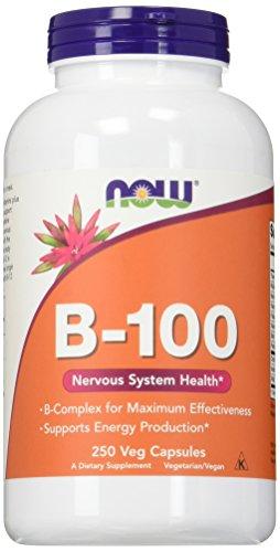 NOW B-100 Vitamin, 250 Veg Capsules