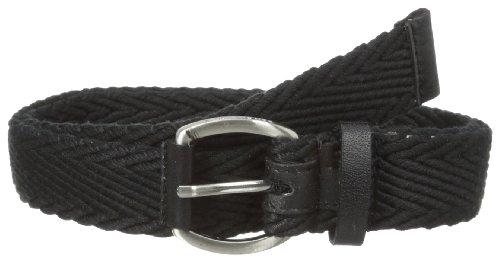 Ben Sherman Mens Herringbone Leather Belt, Black, Medium Ben Leather Belt