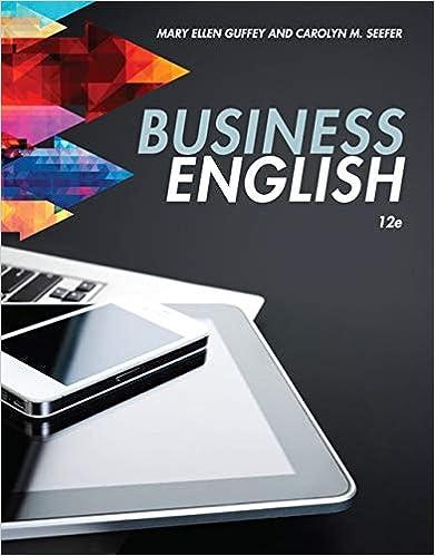 ellen guffey business english 11e answer key