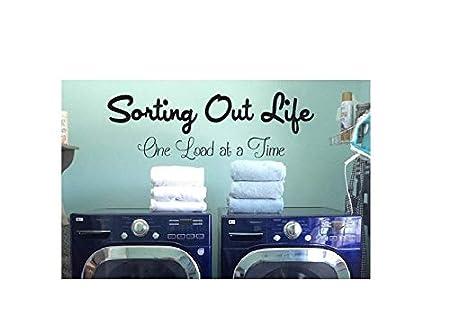 Calcomanía para pared con cita en inglés «Orting Out Life One Load ...