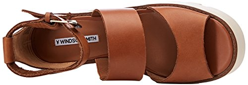 Smith Donna Sandali con Plateau Windsor Tan Leather Marrone Puffy PqwdAqxXng