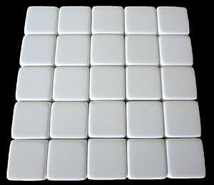 25 Blank White Dice 16MM