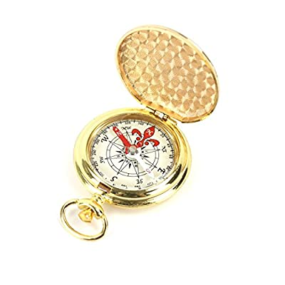 DETUCK(TM) Pocket Compass Outdoor Compass Antique Hiking Hunting Camping Survival Compass Metal Compass Tool from DETUCK