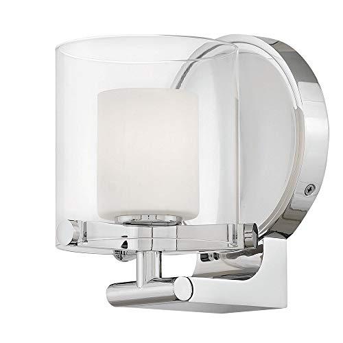 Sconce Hinkley Chrome (Hinkley 5490CM Rixon Wall Sconce, 1-Light, 60 Watts, Chrome)
