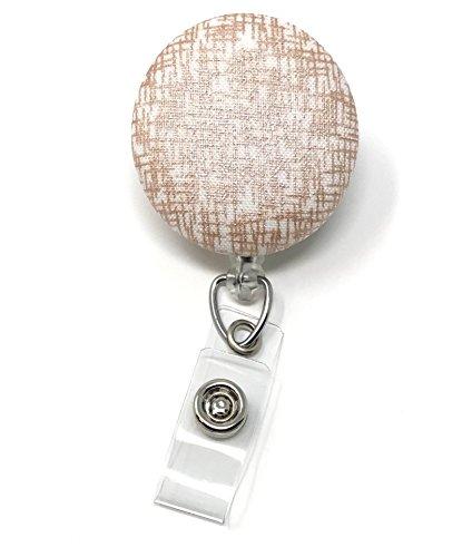 Carolina Clip (Carolina Street Rose Gold Collection Retractable Badge Reel, Alligator Clip, 32in Nylon Cord, Medical MD RN Nurse Badge ID, Badge Holder, ID Holder, Office Employee Name Badge (Crosshatch))
