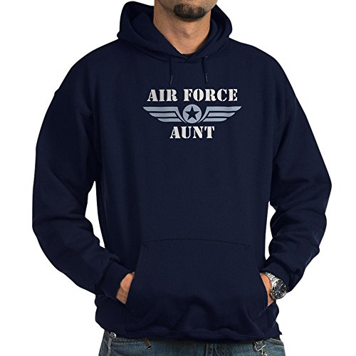 CafePress Air Force Aunt Pullover Hoodie, Classic & Comfortable Hooded Sweatshirt Navy