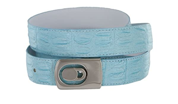 """Unisex Woven Belt Turquoise and White with Silver Buckle 41 1//2/"""""""