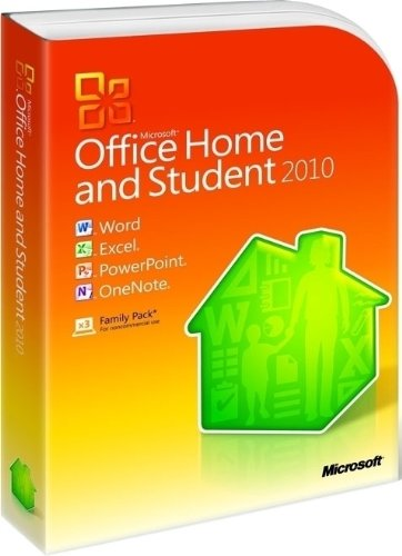 Microsoft Office Home and Student 2010 Family Pack, 3PC (Disc Version) - n/a