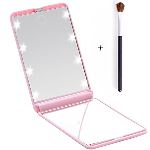 Miss Sweet Compact Mirror with Led Lights for Purse 2X (Pink) - Lite Purse