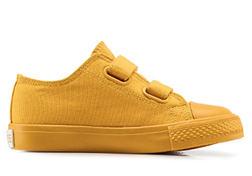 iDuoDuo Kids Classic Candy Color School Shoes Casual Dress Canvas Sneakers Yellow 13.5 M US Little Kid by iDuoDuo (Image #3)