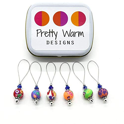 Multi Color Flower Bead Knitting Stitch Markers