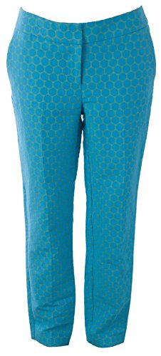 BODEN Women's Circles Bistro Crop Trousers US Sz 8R Blue/Green Boden Trousers
