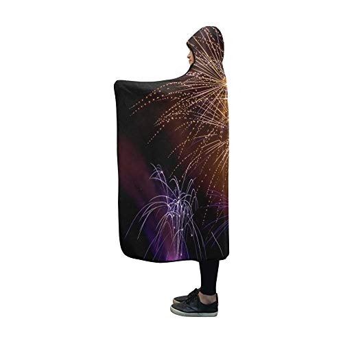 Pyro Blanket - Jnseff Hooded Blanket Pyrogames Pyro Rocket Pop Beacon Fireworks Art Blanket 60x50 Inch Comfotable Hooded Throw Wrap