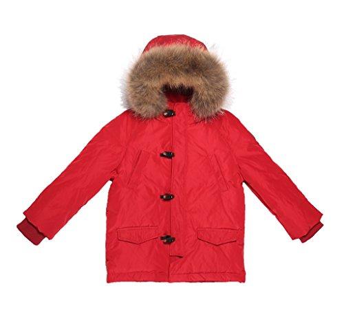OCEANKIDS Little Boys' Red Memory Foam Padded Down Parka Fur Trim Hood 6-7 Years by OCEANKIDS