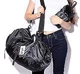 Foldable Gym Bag Sports Duffel Travel Duffel Bag Lightweight Waterproof Travel Luggage Balck