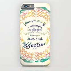 Buddha Quote iPhone 6 Case by Famenxt