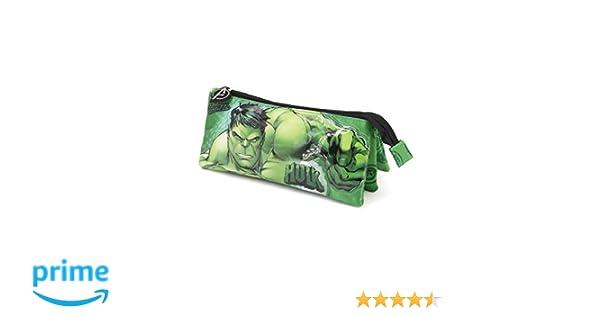 Karactermania Hulk Rage - Estuche Portatodo, Verde, 23.5 cm