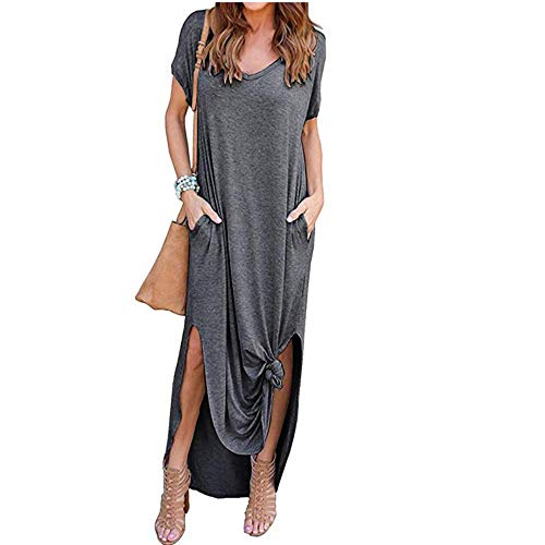 Loose Plain Maxi Dresses Women