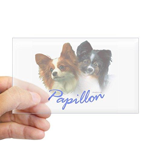 CafePress - Papillon-1 Rectangle Sticker - Rectangle Bumper Sticker Car ()