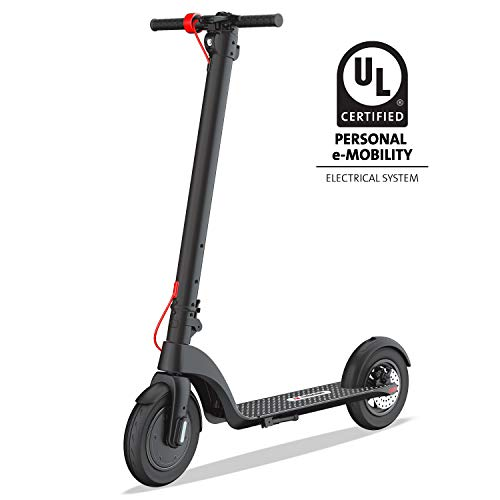 """TURBOANT X7 Electric Scooter, Up to 20 MPH, Detachable Long-Range Battery Up to 16 Miles, 8.5"""" Tubeless Rubber Tires, Portable Folding Commuting Motorized Scooter for Adults, Students"""