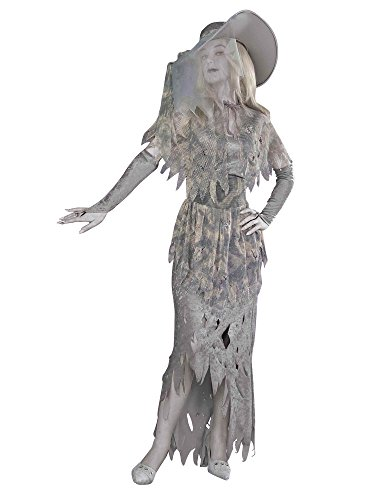 GHOSTLY GAL, Standard (14-16), Gray/White