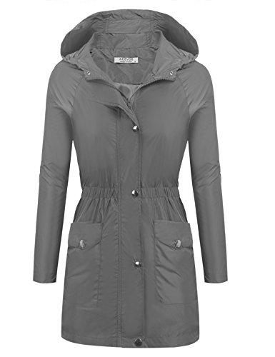 zip up rain coat - 5