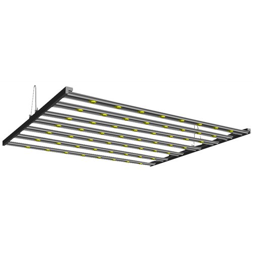 4 ft. 240 watt COB Grow Light, Aluminum V-Hanger Mount, UV Stabilized and Impact Resistant Clear Acrylic Lens, Replaces up to 600 watt Metal Halide, Anodized Extruded Aluminum Housing, 120-277V -