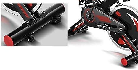 FIT-FORCE Bici Spinning X24KG con Volante de inercia de 24kg Negro ...