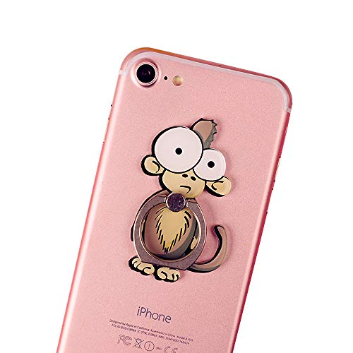 Cell Phone Finger Ring Holder Cute Animal Smartphone Stand 360 Swivel for iPhone, Ipad, Samsung HTC Nokia Smartphones Tablet,by UnderReef - Tails Monkey Heart