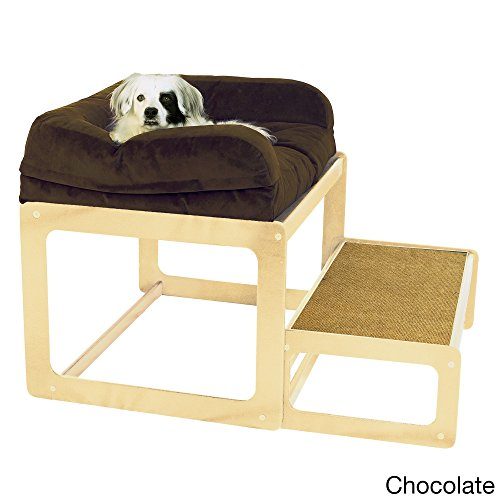 The Savvy Pet Lacey's Lookout Medium Natural Dog or Cat Window Seat Brown by Pet Savvy