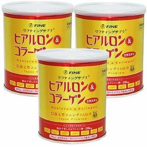 ヒアルロン&コラーゲン+還元型CoQ10【3缶セット】ファイン B00BS5UO8O