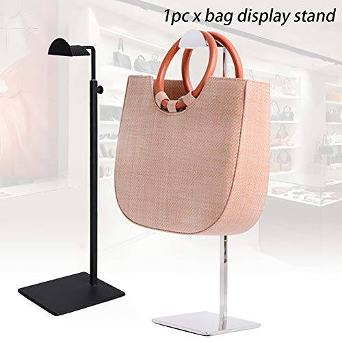Stainless Steel Handbag Display Stand Holder Rack Free-Standing Women Bag Purse Display Stand Holder for Handbags/Scarves/Hats Retail Hanger Arrange