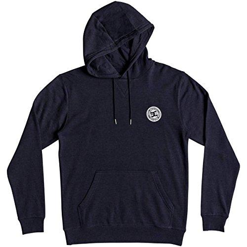 DC Men's Rebel Pullover Hoodie Fleece Jacket, Black Iris, XXL