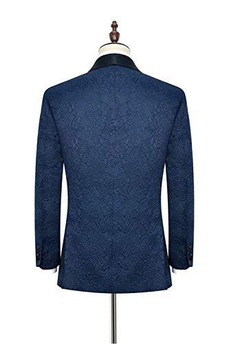 Marin De Pour Veste En 1 Mariage Blazer Homme Judi F¨ºte Jacquard Costume Bleu Bouton Dench 6xTnqf