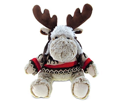 (Puzzled Moose Soft Stuffed Plush Cuddly Animal Toy - Wild Animals/Animals Collection - Unique huggable loveable New friend Gift - Item #5768)