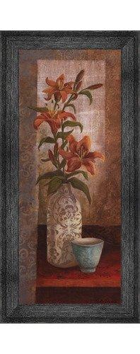 (Poster Palooza Framed Spiced Jewels I - Mini- 8x20 Inches - Art Print (Black Barnwood Frame))