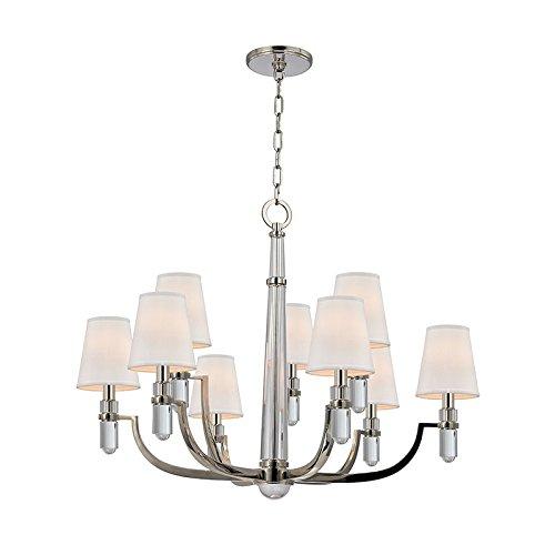 Hudson Valley Lighting 989-PN Nine Light Chandelier, Polished Nickel