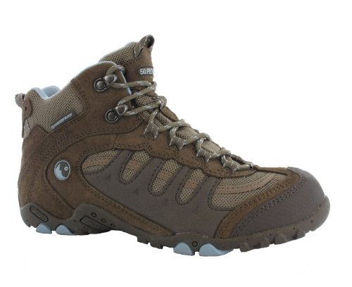 HI-TEC 50 Peaks Penrith Mid WP Zapato de Senderismo Señora Marrón/Beige/Azul