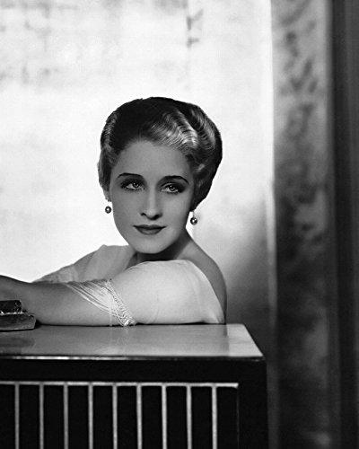 (Norma Shearer in Strange Interlude styled hair wearing dangling earrings 16x20 Canvas)