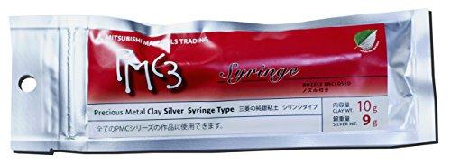 PMC3 Precious Metal Clay Silver Syringe Type(with nozzle) 9 grams