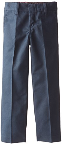 Dickies Little Girls' Flat Front Pant, Dark Navy, 6 Slim
