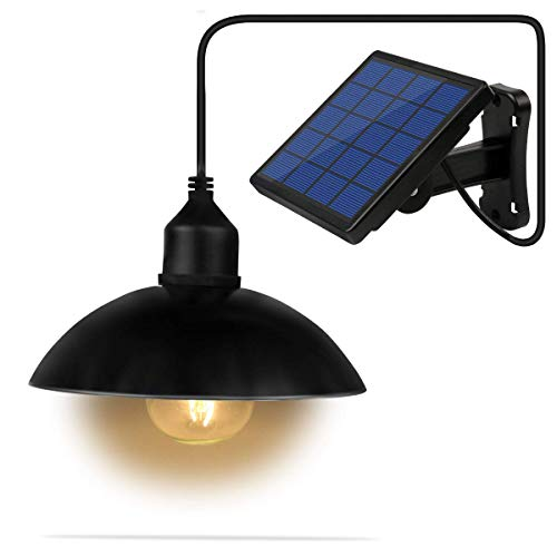- Lixada Solar Pendant Light Classical E27 LED Outdoor Hanging Solar Powered Sensitive Shed Lights, Waterproof Pendant Decoration Lamp for Barn Farm Garden Yard Patio Balcony House Landscape